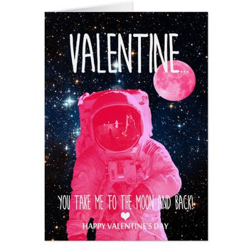 You take me to moon and back Valentine's Day Card