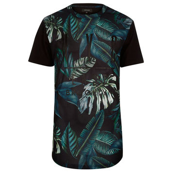 Nature All Over Print Mesh Long T-Shirt