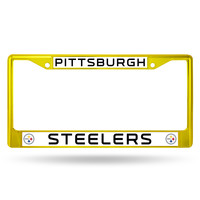 Pittsburgh Steelers Metal License Plate Frame - Yellow