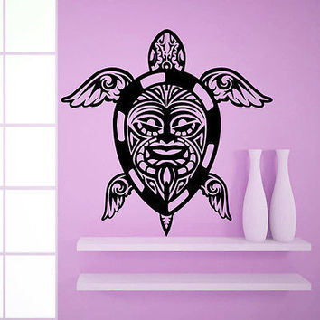 Wall Decal Sea Turtle Animals Tribal Decals Home Art Bathroom Decor Sticker MR17