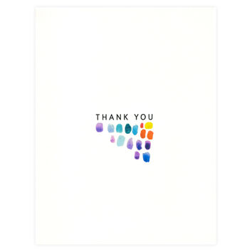 Paint Strokes Folded Thank You Card