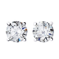 RenéSim 1 Carat D Flawless Each Diamond Stud Earrings