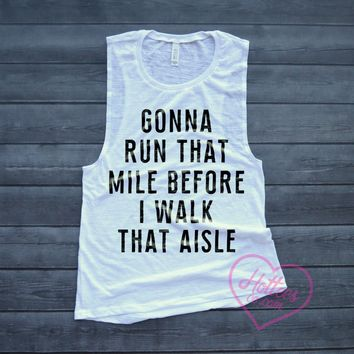 Bride Fitness Workout Muscle Tank