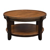 Sigmon Transitional Round Wooden Coffee Table by Uttermost