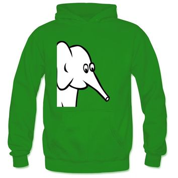 Jacqeline The Elephant'S Nose Looks Like A Cannon Men's Regular Hoody