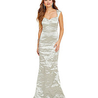 Nicole Miller Collection Ali Techno Metal Sweetheart Gown | Dillards.com