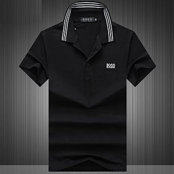 Hugo Boss Casual Simple Men Short Sleeve  Shirt Top Tee