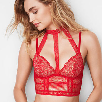 Fishnet Lace Long Line Bra - Very Sexy - Victoria's Secret