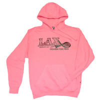 "Lacrosse Solid Sweatshirt ""Lax Power for Pink"" - Logo"