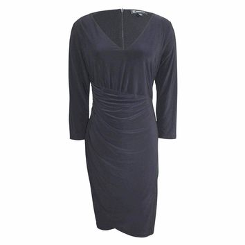 Ruched 3/4 Sleeve Dress