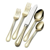 Wallace Continental Bead 65-pc. Gold-Plated Flatware Set (Grey)