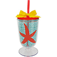 Starfish 18 oz. Double Wall Iced Tea Tumbler with Straw
