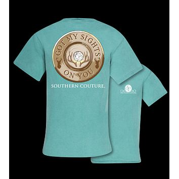 Southern Couture Sights On You Deer Comfort Colors T-Shirt