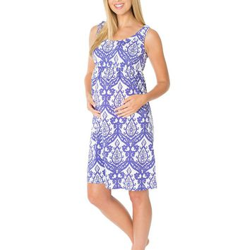 Brie Maternity & Nursing Sleeveless Nightgown