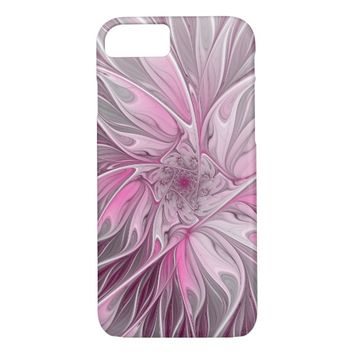 Fractal Pink Flower Dream, floral Fantasy Pattern iPhone 8/7 Case