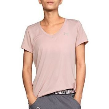 Under Armour Women's Tech Short Sleeve V-Neck Ticker T-Shirt | DICK'S Sporting GoodsProposition 65 warning iconProposition 65 warning icon