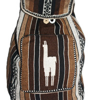 Tribal Chocolate Alpaca backpack