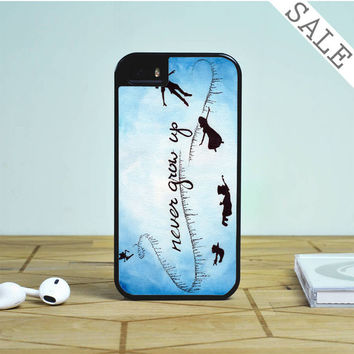 Peter Pan Never Grow Up on Star Sky Galaxy Nebula For iPhone | Samsung Galaxy | HTC Case