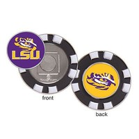 Licensed Lsu Tigers Official NCAA Golf Ball Marker With Poker Chip Set by McArthur 235480 KO_19_1