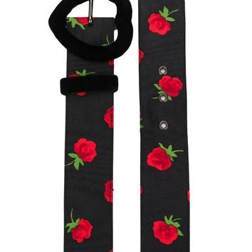 Yves Saint Laurent Vintage Rose Print Belt - Farfetch