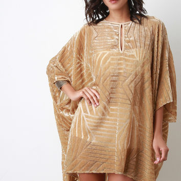 Velvet and Mesh Dolman Dress