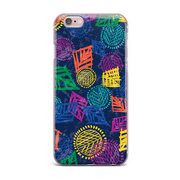 "Emine Ortega ""African Beat Blue"" iPhone Case"