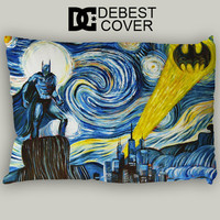 Batman Starry Night Pillow Case In 20 x 30 Inches