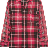 Equipment - Signature plaid-print washed-silk shirt
