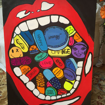 Original Hand Painted One of A Kind Canvas 36 x 48