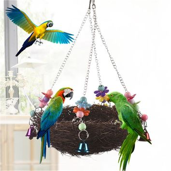 Large Decorative Birdcage Parrot Bird Cage Accessories Nest House Decoration Canary Cages For Parrots Birds Birdhouse Aviary