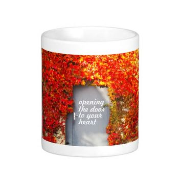 Opening the Door to Your Heart Classic White Coffee Mug