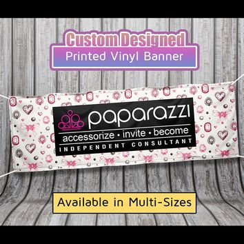 Paparazzi Vinyl Banner - Diamond Background - Size 2ft x 6ft