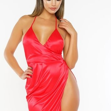 Izzy Mini Dress - Red