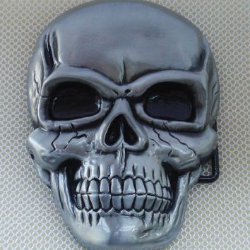 Gnash Skull Belt Buckle