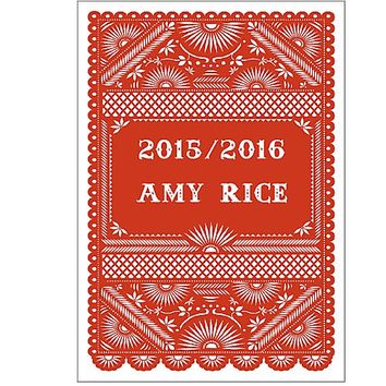 Personalize 2015-2016 Fiesta Flag Custom Planner | Paper Source