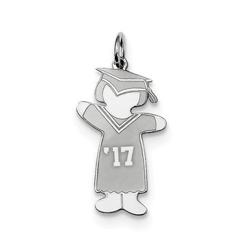 Sterling Silver Class of 2017 Girl Cuddle Charm