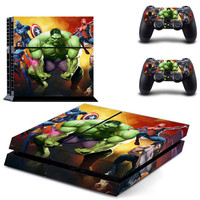 Hulk design decal for ps4 console sticker