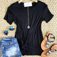 Knot Today Top - Black