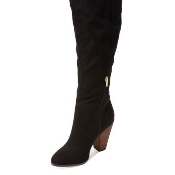 Charles by Charles David Women's Skyler Microsuede Boot - Black -
