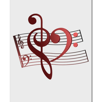 "Heart Sheet Music Aluminum 8 x 12"" Sign"