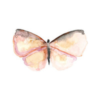 Pink Butterfly.  Print of my Original Watercolor Painting.  Nature Wall Art.