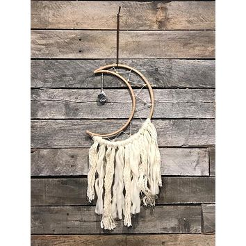 Small Crescent Moon Dream Catcher