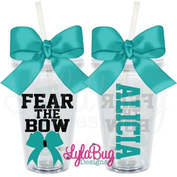 Fear the Bow Cheer Tumbler: LylaBug Designs