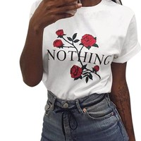 Nothing Rose Print T Shirt