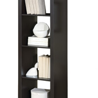"Cappuccino Hollow-Core 63""H Room Divider Bookcase"