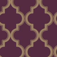 Marrakesh Merlot Removable Wallpaper