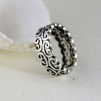 Retro Arrival 925 Sterling Silver Flower Pattern Rings for Women Jewelry Fashion Open Adjustable Finger Ring Free Shipping