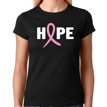 Crazy Bros Tee's Breast Cancer Awareness - Never Give Up Hope - Inspirational Premium Women's T-Shirt