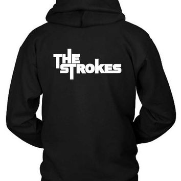 CREYH9S The Strokes Title Classic Hoodie Two Sided