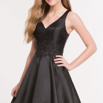 Alyce 3707 Fit and Flare Dress with Lace Bodice